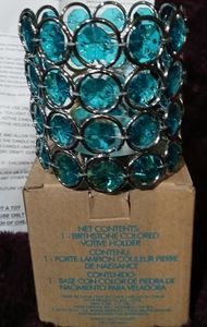 Jewel encrusted votive holder